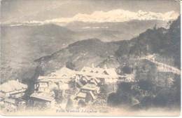 DARJEELING FROM WESTERN JALAPAHAR ROAD CPA NO. 5  EDITEUR SIMLA PRINTED IN JAPAN DOS DIVISE RARISIME 1900s TBE - India
