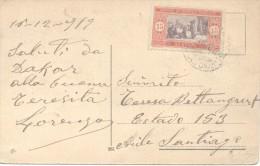 DAKAR LE MARCHE CPA ANIMEE MARKET MERCADO CPA CIRCULEE 1919 AL SANTIAGO CHILE RARISIME CIRCULATION - Senegal