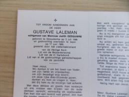 Doodsprentje Gustave Laleman Nieuwkerke 5/7/1906 Ieper 17/6/1980 ( Judith Gesquière ) - Religion & Esotérisme