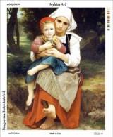 New Tapestry, Gobelin, Picture, Print, Bouguereau, Breton Sisters - Creative Hobbies