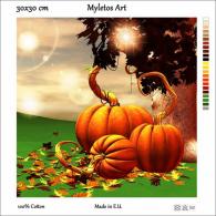 New Tapestry, Gobelin, Picture, Print, Tale, Autumn, Pumpkin, Halloween - Creative Hobbies