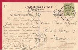 BR-6525  LIEGE PALAIS DES BEAUX ARTS    Verzonden LIEGE 1  LUIK    MET  AfstempeliBRUSSEL/BRUXELL ES En  ANTWERPEN ANVER - 1893-1907 Wappen