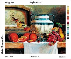 New Tapestry, Gobelin, Picture, Print, Still Life, Fruits, Grape, Orange - Creative Hobbies