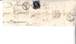 FRAGMENT AFFRANCHI N°29 - OBLITERATION LOSANGE GROS CHIFFRES-   -99 - ANGERS - 1863-1870 Napoleon III With Laurels