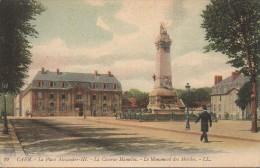 14  CAEN - La Place Alexandre III - La Caserne Hamelin - Le Monument Des Mobiles - Caen
