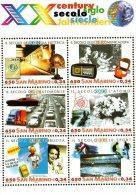 [DC0392] CARTOLINEA - AVVENIMENTI IMPORTANTI DEL XX SECOLO - RIPRODUZIONE DEL FOGLIETTO DI FRANCOBOLLI - SAN MARINO - Briefmarken (Abbildungen)