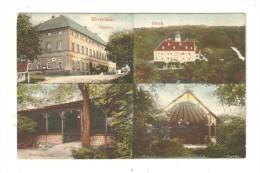CPA : Ehrenhain : Gasthof - Schloss - Konzergarden - :Hôtel De Ville - Château - Kiosque à Musique ( ? )  - Colorisée - Allemagne