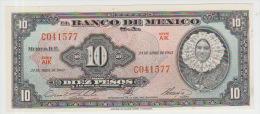Mexico 10 Pesos 1963 Pick 58j UNC - Mexico