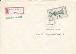 C10265 - Czechoslovakia (1985) 738 06 Frydek-Mistek 11 (stamp: Museum Of Decorative Arts In Prague) - Vetri & Vetrate