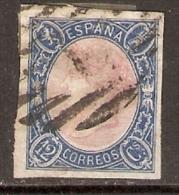 1865 12 CU AZUL Y ROSA EDIFIL 70 VALOR  29 € - 1850-68 Kingdom: Isabella II