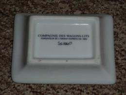 Rare ancien petit cendrier c�ramique �maill�e Compagnie Internationnale des Wagons-Lits et des grands Express europ�ens