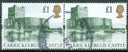 Grossbritannien 1 Pfd. Schloss Carrickfergus Castle Waagerechtes Paar Gest. - 1952-.... (Elisabeth II.)