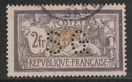 """MERSON - Yvert N°122 OBLITERE  - COTE = 90 EUROS  - PERFORE """"S.G"""" - France"""