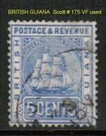 BRITISH GUYANA   Scott  # 175 VF USED - British Guiana (...-1966)