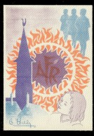 IMAGE SUR SOIE AUTOCOLLANTE  DESSIN DE HALY ??  AFR - Vignettes De Fantaisie