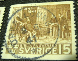 Sweden 1941 Commemorating The Bible 15ore - Used - Suède