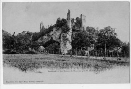 LES RUINES DE BEAUVOIR PRES DE ST MARCELLIN  SERIE DAUPHINE  CARTE PRECURSEUR - Saint-Marcellin