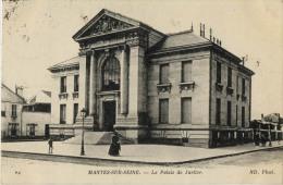 78 MANTES SUR SEINE PALAIS DE JUSTICE Cachet Commissaire De Gare - Mantes La Jolie