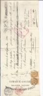 Paire N°65 Càd Bruxelles/effet De Commerce 7 OCTO 01 S/l. De Change ( 2.450 Fr) De L'Union Agricole De Jodoigne.TB - 1893-1900 Fine Barbe