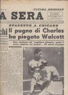 RA#43#26 Giornale STAMPA SERA Giugno 1949/PUGILATO : CHARLES - WALCOTT A CHICAGO - Pugilato