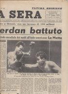 RA#43#27 Giornale STAMPA SERA Giugno 1949/PUGILATO : LA MOTTA - CERDAN A DETROIT - Pugilato