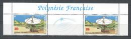 POLYNESIE 1988 N° 306 A ** Neuf = MNH Superbe  Non Pliée Réseau Polysat Espace Space - French Polynesia