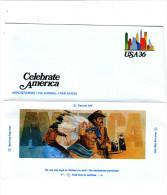 """STATI UNITI  2000 - Aerogramme """"Celebrate America"""" - American Indians"""