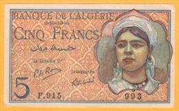 Algeria 5 Francs  2.10.1944  P. 94b - NEUF - Algeria