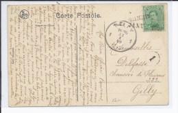 TP 137AA(type V)annulé Par Griffes Ellezelles Et 31 JANV 1919 S/CP V.Gilly. - Marcophilie