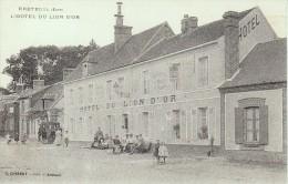 BRETEUIL - Hôtel Du Lion D'Or - Commerce - Animée - Vers 1915 - RARE - Breteuil
