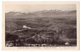CP, 74, Chaine Des Alpes Et Le Mont Blanc, Vue Prise De Mornex, Vierge - Non Classés