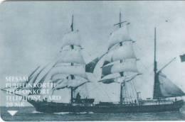 FINLAND - Sygin/Sailing Boat, Turun Puhelin telecard, tirage 14800, exp.date 12/98, used
