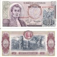 Colombia P407, 10 Peso, Condor / Archeological Park San Agustin Monliths $3CV! - Colombia