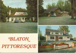 """BLATON PITTORESQUE. Dancing-Bar """"Le Castel - Dancing """"La Bûche"""" - Restaurant """"Le Bûcheron...........(voir Scan Verso) - Bernissart"""