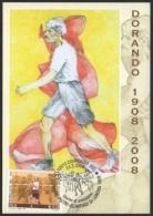 ATHLETICS - ITALY CORREGGIO (RE) 2008 - OLYMPIC GAMES LONDON 1908 - DORANDO PIETRI - MARATHON - MAXIMUM - Summer 1908: London
