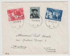 BELGIUM USED COVER COB 964/66 SPA VERS STRASBOURG - Belgique