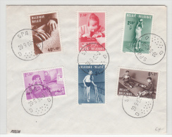 BELGIUM USED COVER 29/09/1962 COB 1225/30 SPA ENFANT HANDICAPE - Lettres & Documents