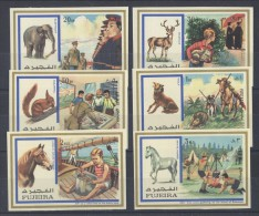 Fujeira - 1972 Scouts And Animals IMPERFORATE MNH__(TH-2482) - Fujeira
