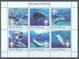 Guinea-Bissau - 2003 Dolphins Kleinbogen MNH__(TH-10175) - Guinea-Bissau