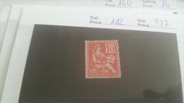 LOT 214300 TIMBRE DE FRANCE NEUF* N�112 VALEUR 27 EUROS
