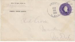 #U436e 3-cent Entire Postal Stationery Cover Breien North Dakota 1930s Cover - Entiers Postaux