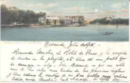 FRASCATI HOTEL AT THE FLATTS BERMUDA CPA DAMAGED SOLD AS IS TIMBRE ARRACHE 1905 - Bermuda