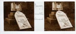 Photo Plaque De Verre / Vue Stéréo / WW1 Guerre 14/18 / Mourron Mouron (Ardennes 08) Cimetière Allemand - Diapositiva Su Vetro