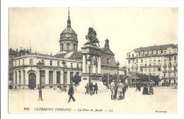 Cp, 63, Clermont Ferrand, La Place Jaude, écrite 1918 - Clermont Ferrand