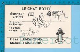 Sexy QSL  Base Et Mobile  Le Chat Botté Montreal Quebec Canada  ( XM-52.., CB Radio ) Recto/verso - CB