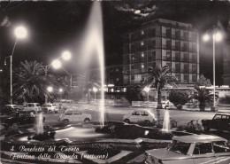 Cartolina SAN BENEDETTO DEL TRONTO (Ascoli Piceno) - Fontana Della Rotonda (notturno) - Ascoli Piceno