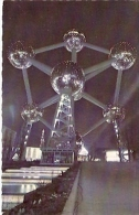 """POSTCARD """"ATOMIUM"""" L ANUIT-BY NIGHT- BEI NACHT- EDIT. BEATIC- UNCIRCULATED-GECKO. - Sterrenkunde"""