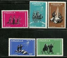"""Anguilla     """"Christmas 1968""""     Set     SC# 44-48    MNH** - Anguilla (1968-...)"""