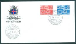 ISLAND - FDC Mi-Nr. 426 - 427 - 100 Jahre Zusammenarbeit Der Postverwaltungen Skandinaviens - FDC