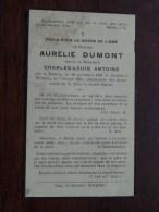 DP Aurélie DUMONT ( Charles ANTOINE ) Rebecq 12 Nov 1856 / 7 Fev 1935 Wisbecq ( Details Zie Foto´s ) ! - Religion & Esotérisme